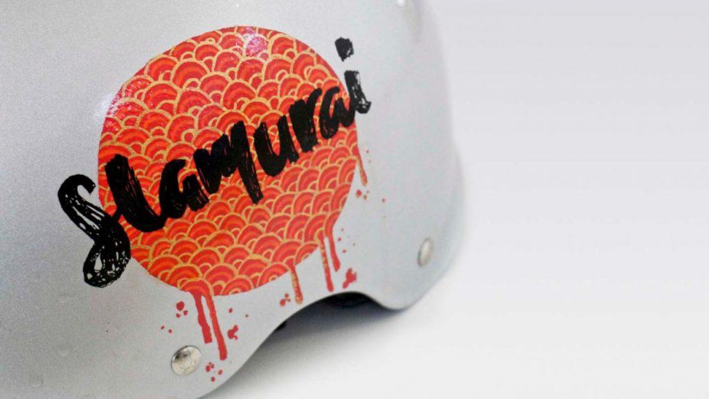 Helmet Logo Printed